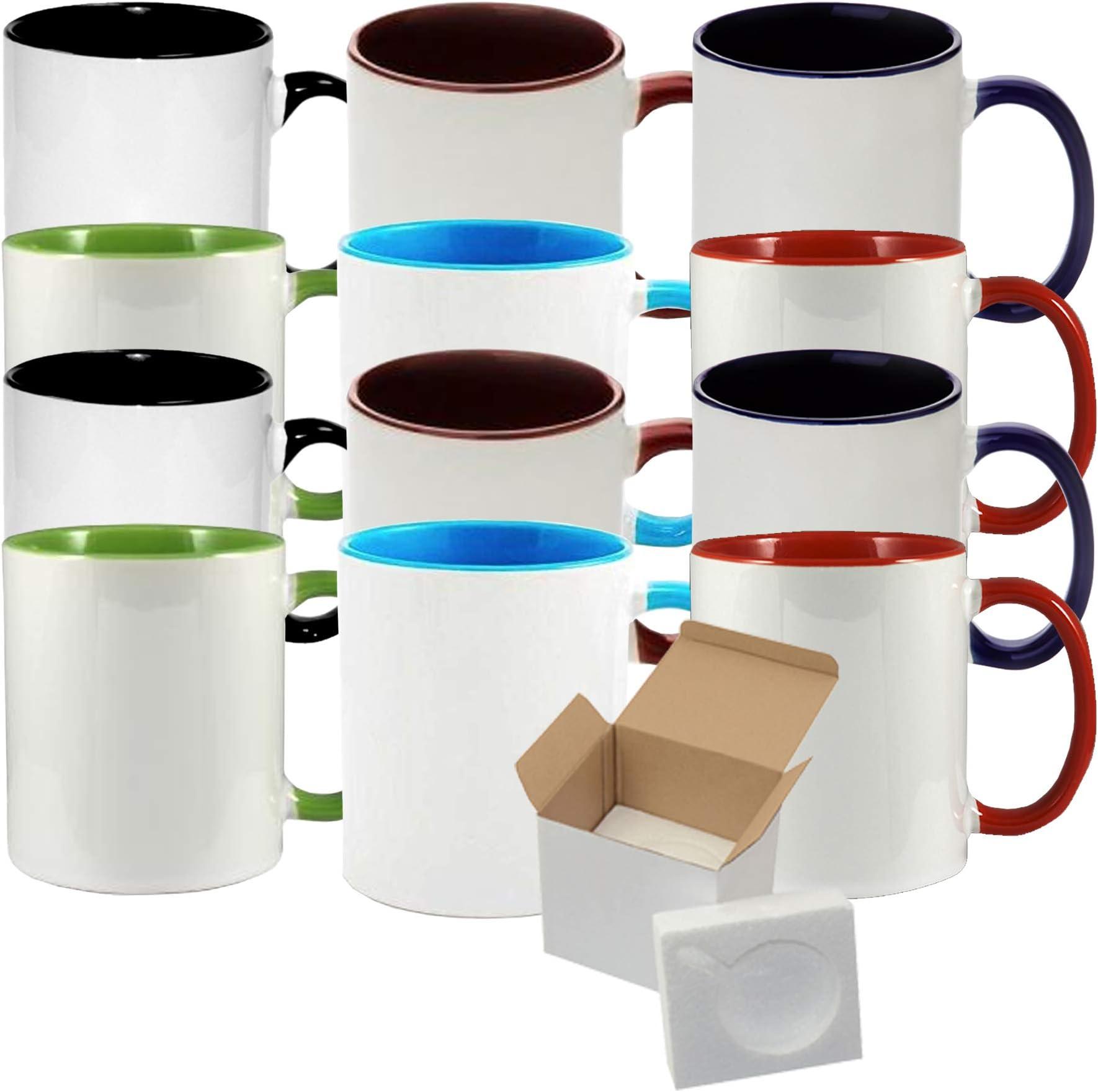 12 oz tall   Coffee mug blueredyellow blended