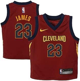 Lebron James Cleveland Cavaliers NBA Kids 4-7 Burgundy Road Icon Replica Jersey