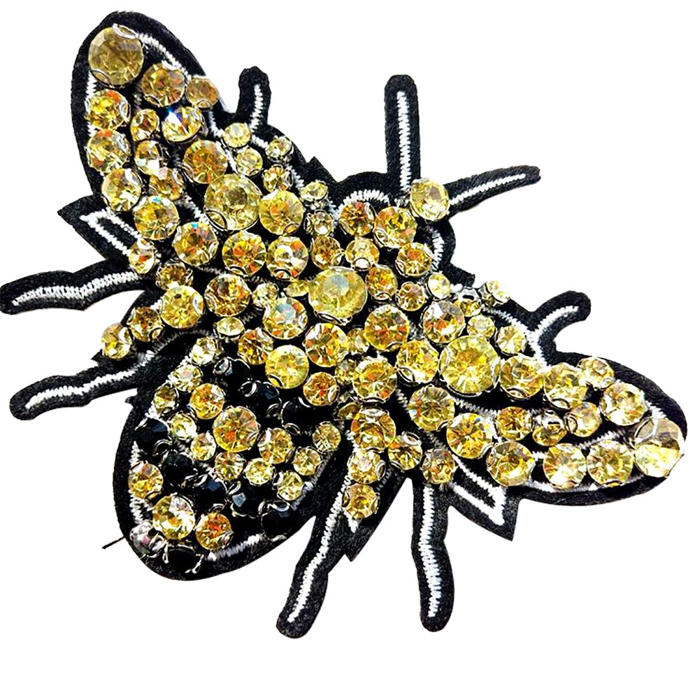 8.8 x 4.5 cm 2 pieces BUMBLEBEE Iron On Patch Applique Animal Insect Honey Bee Motif Fabric Decal 3.5 x 1.8 inches