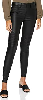 ONLY Women's Onlnew Royal Reg Sk. Biker Coated Noos Trouser
