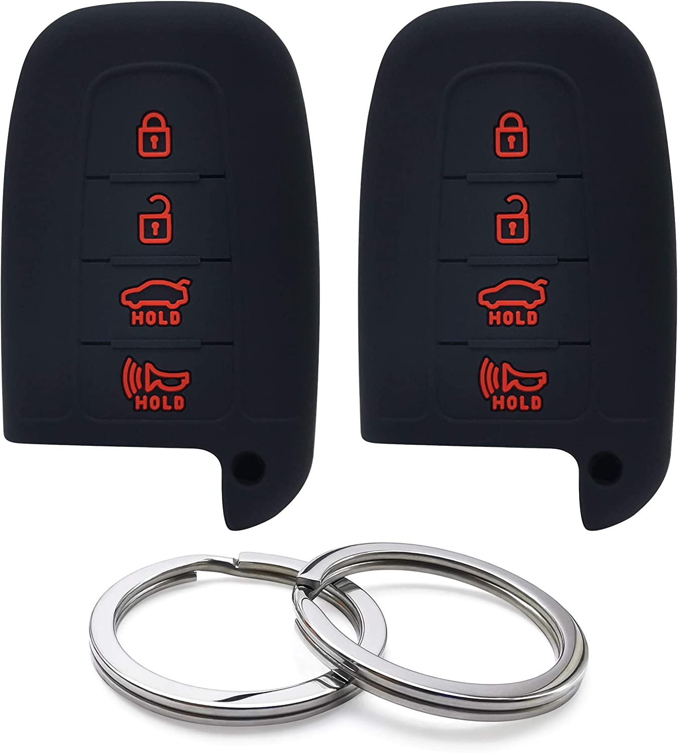 Max 80% OFF GFDesign 2Pcs Silicone 4 Buttons Key Cover Case Keyle Fob Remote San Antonio Mall