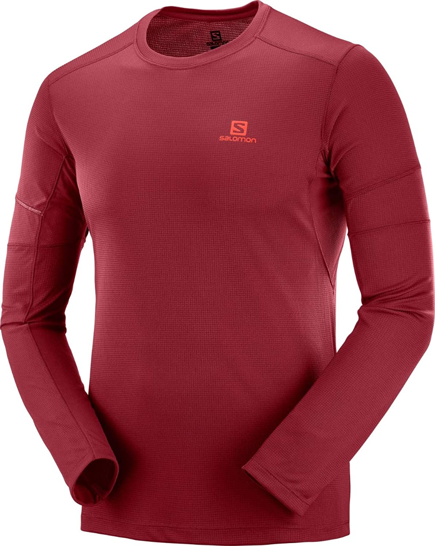 Salomon Herren Agile LS LS LS Tee Langarm-Sportshirt Rot (Biking rot) L B07F31SKZ1  Vielfalt c99c59