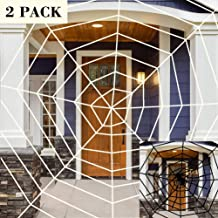ATDAWN 2 Pack Halloween Spider Web Outdoor Decor, 11 Feet Giant Spider Web for Indoor Outdoor Decoration, Halloween Decoration, 1 Black and 1 White