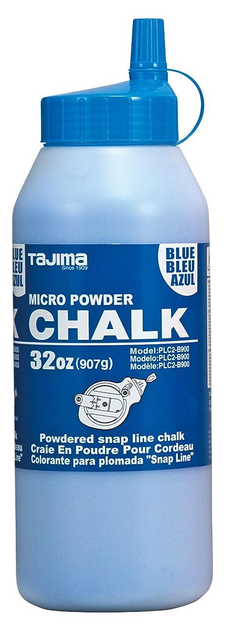 TAJIMA Micro Chalk - Blue 32 oz (907g) Ultra-Fine Snap-Line Chalk with Durable Bottle & Easy-Fill Nozzle - PLC2-B900