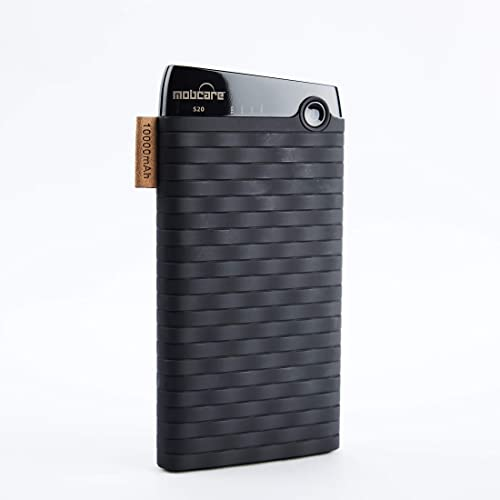 Mobcare 10000 mAh S20 Power Bank with LED Indicator Short Circuit overcharging and Over discharging Protection Black