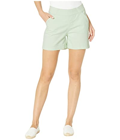 Jag Jeans 5 Gracie Pull-On Shorts in Twill (Mint Green) Women
