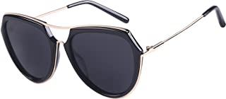 Aviator Polarized Sunglasses for Women Oversized Big frame Mirrored Retro Sunglasses