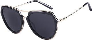 Aviator Polarized Sunglasses for Women Oversized Big frame Mirrored Retro Sunglasses
