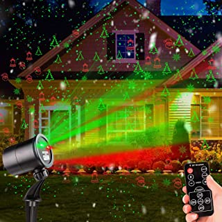Christmas Laser Lights Outdoor Projector, Laser Lights Christmas Projector with Wireless Remote, Waterproof Laser Projector Decorating for Christmas Xmas Party Holiday Stage Landscape Patio Garden