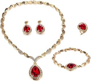 FAUOI Womens Luxury Africa Dubai 18k Gold Plated Jewelry...
