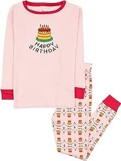 Kids Pajamas Boys Girls Hearts Birthday 2 Piece pjs Set 100% Cotton (Size 12 Months-14 Years)