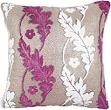 Chezmax Geometric/Floral Printed Patterned Stuffed Cushion Zippered Chenille Throw Pillow Insert Square Decorative