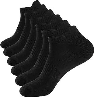 WANDER Men's Athletic Ankle Socks 6 Pairs Cushion Low Cut Running Socks Sport Tab Cotton Socks 7-10/10-13