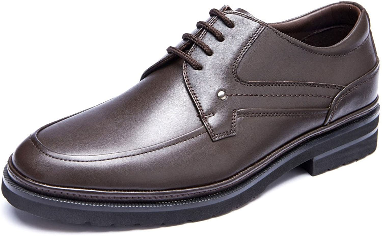 LEDLFIE Mans skor Män's Business Business Business Dress skor läder Round Head Lace skor Low skor  erbjuder 100%