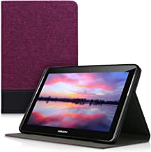 kwmobile Case for Samsung Galaxy Tab 2 10.1 P5100/P5110 - PU Leather and Canvas Protective Cover with Stand Feature - Black/Brown Purple 41184.04