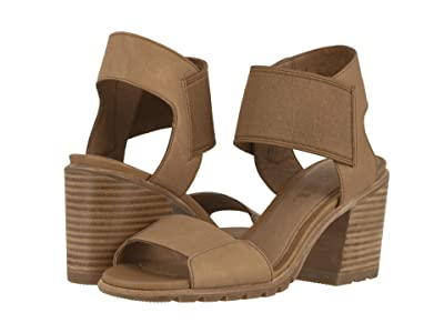 SOREL Nadiatm Sandal (Camel Brown Full Grain Leather) Women
