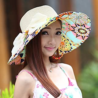 LPKH Sun Hat Summer Beach Hat, Foldable Wide Brim Gardening Hiking Hat Neck Protection UV Protection Sun Visor Sun Protection Cap hat (Color : Grass Yellow)