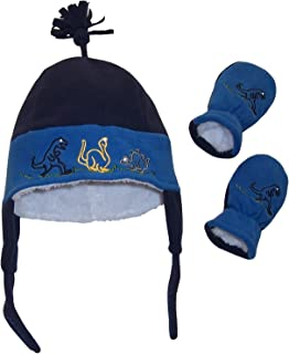 Little Boys and Baby Sherpa Lined Fleece Embroidered Hat...