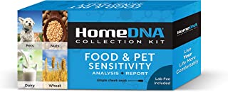 Food Sensitivity Testing Kit by HomeDNA | Check for Food Intolerances: Gluten, Lactose, Eggs, Nuts, Pet Fur | Safe for Adults and Children | Simple Cheek Swab | Lab Fees Included | FSA Eligible |