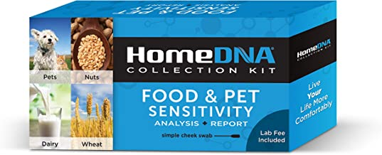 Food Sensitivity Testing Kit by HomeDNA   Check for Food Intolerances: Gluten, Lactose, Eggs, Nuts, Pet Fur   Safe for Adults and Children   Simple Cheek Swab   Lab Fees Included   FSA Eligible  