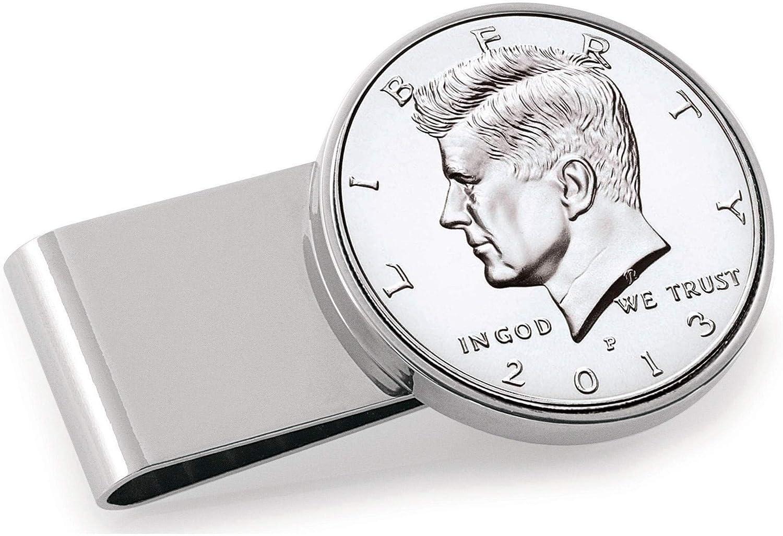 Stainless Steel JFK Half Dollar Money Clip Men's