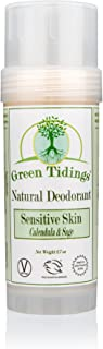 Green Tidings Natural SENSITIVE SKIN Deodorant, Calendula & Sage (2.7 Ounces)