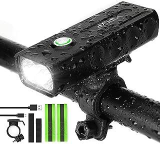 comprar comparacion IPSXP Luz de Bicicleta, USB Recargable Luz de Delantera Faro LED Bicicleta, 1000 Lúmenes Linterna de Emergencia para Cicli...