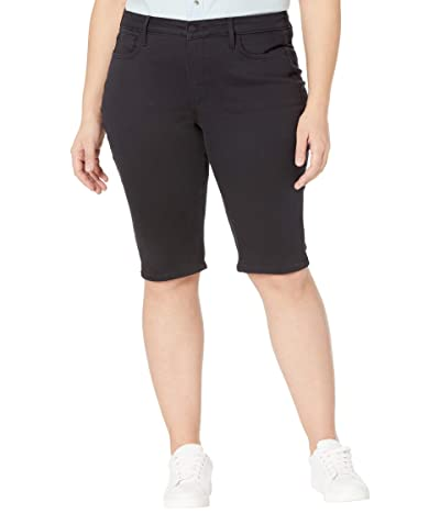 NYDJ Plus Size Plus Size Denim Knee Capris in Black (Black) Women