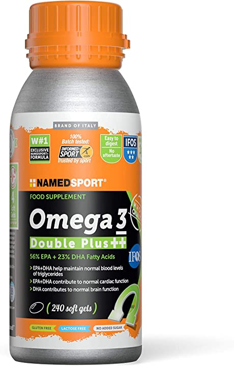 Integratore omega 3 double plus ++ 240 softgel - 990 gr named sport 1FO-SOFT-OM++-01