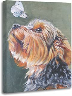 TORASS Canvas Wall Art Print Dog Yorkie Yorkshire Terrier Painting Shepard Artwork for Home Decor 12