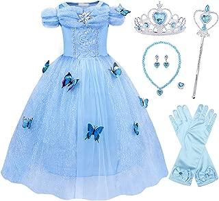 Sofia Belle Mermaid Rapunzel Aurora Princess Dress Up Costumes Accessories Set