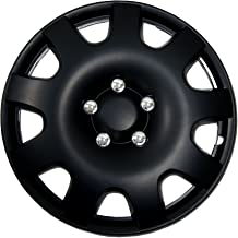TuningPros WSC-502B16 Hubcaps Wheel Skin Cover 16-Inches Matte Black Set of 4
