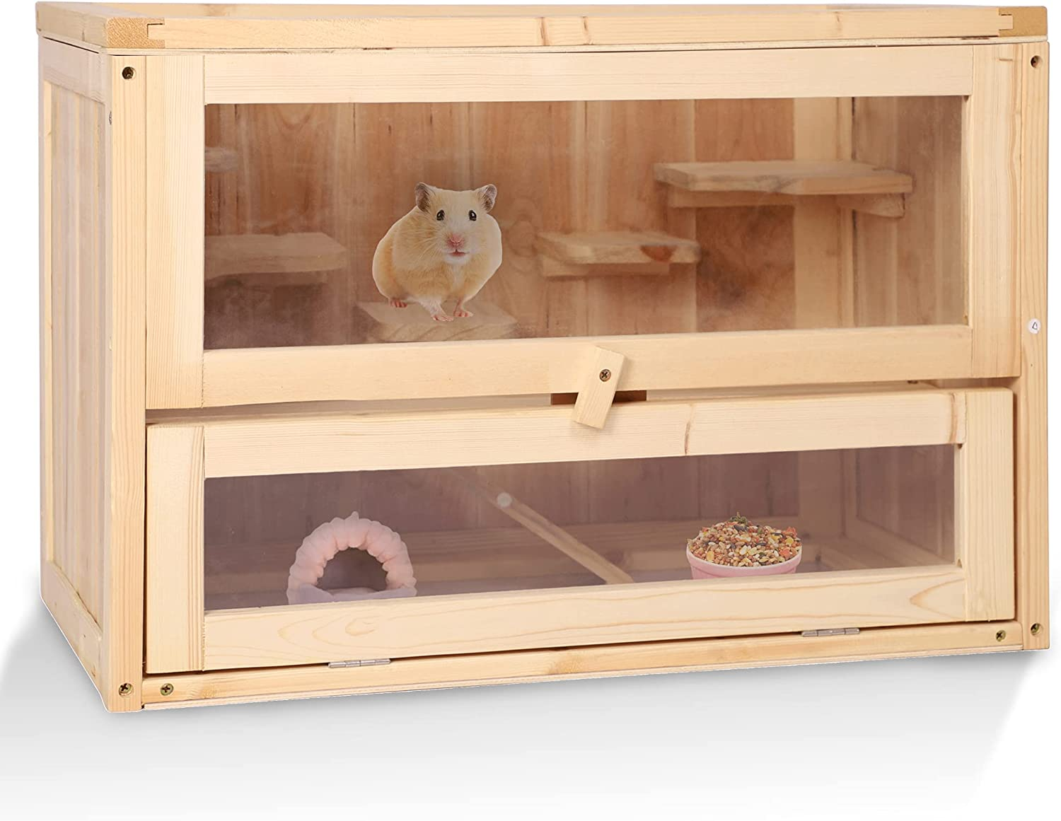 Koreyosh Wooden Hamster OFFicial store Cage 2 Large Mini Rat Space Layers Selling rankings