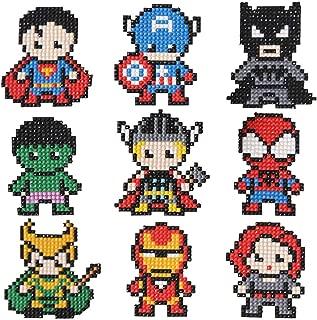 5D Diamond Painting Mini DIY Superhero Stickers Resin Cross Stitch Kit Decoration Crafts