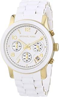 MK5145 Women's Two Tone Stainless Steel Quartz Chronograph White Dial Watch