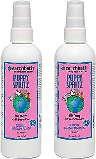 Earthbath Puppy Spritz, 8 Ounces, Wild Cherry, Deodorizes Conditions and Detangles (2 Pack - 8 oz.)
