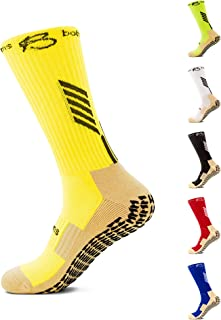 Botthms - Anti-Slip Grip Socks, Powerful Grip Football Socks, Breathable Mens Sports Socks, One Size Fits All