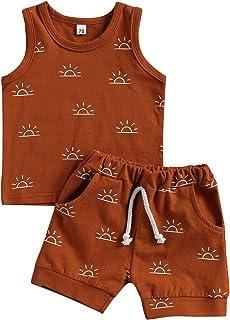 Geagodelia Conjunto de ropa para bebé y niño, camiseta interior, ropa de bebé, recién nacido, conjunto de ropa de verano