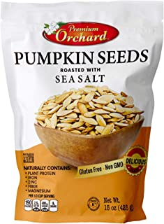 Pumpkin Seeds Oven Roasted with Sea Salt (VALUE PACK - 3 Bags) by PREMIUM ORCHARD