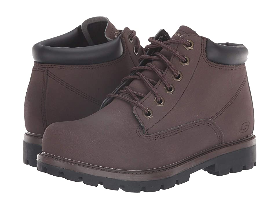 SKECHERS Relaxed Fit Toric Amado (Chocolate) Men