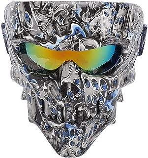 Qii lu Skull Face Mask Goggles Motorcycle Bike Racing Skiing Sand Wind Shield Helmet Glasses H111