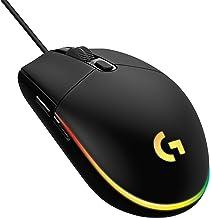 Mouse Gamer RGB Logitech G203 LIGHTSYNC com Efeito de Ondas de Cores 6 Botões Programáveis e Até 8.000 DPI - Preto