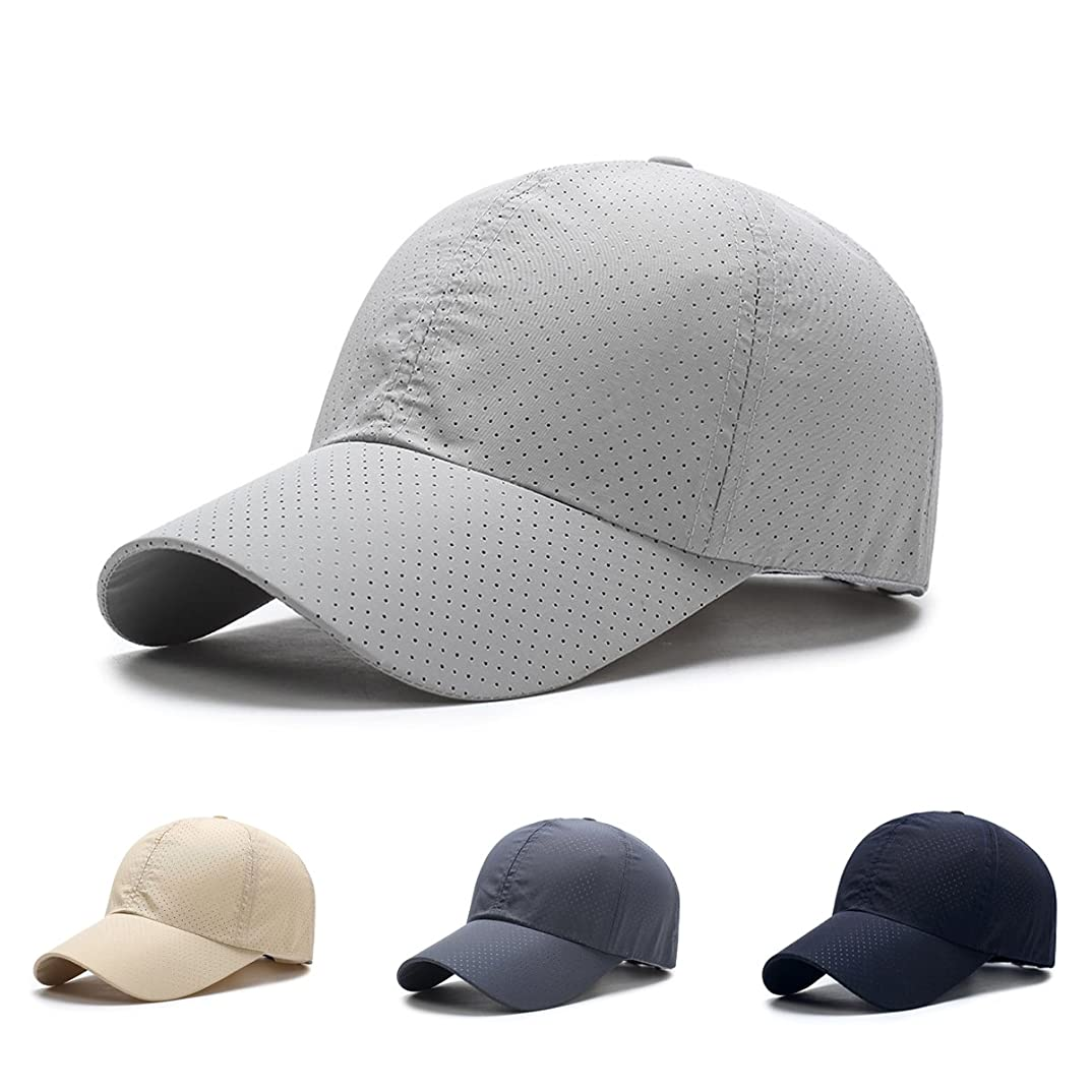 下向き匹敵しますふつうメッシュキャップ Yucciggi メンズ ゴルフ 帽子 キャップ 帽子 ハニカム構造エアーキャップ 人気 キャップ 通気性抜群 日除け帽子 UVカット速乾 軽薄 日よけ野球帽,登山 釣り ゴルフ 運転 アウトドアなどにメッシュ帽 メンズ レディース 無地