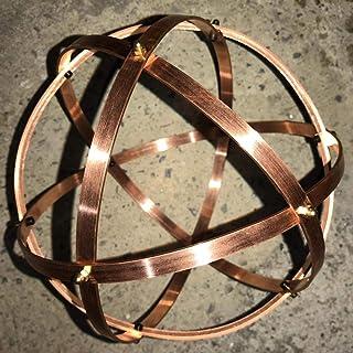 Genesa Crystal Rame 21cm di diametro, fasce larghe 10mm e spesse 2mm fissate con dadi ciechi in ottone.