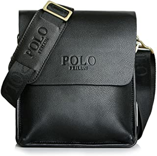 Messenger Bag for Men Classic Business Crossbody Shoulder Bags Casual Man Bag (black)