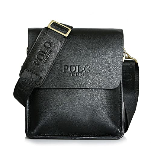 POLO FEILUN Men s Messenger Bag Classic Vintage Genuine Leather Shoulder  Bags Crossbody Bags Briefcase Business Composite 0b34696378789