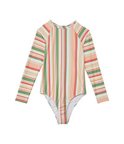 Roxy Kids Colorful Party Long Sleeve One-Piece (Big Kids)