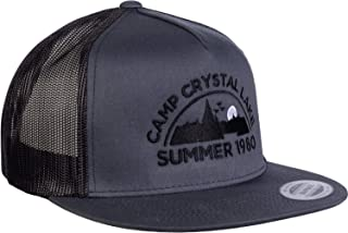Camp Crystal Lake, Summer 1980 | Funny 80s Retro Vintage Movie Horror Cap Hat Grey/Black