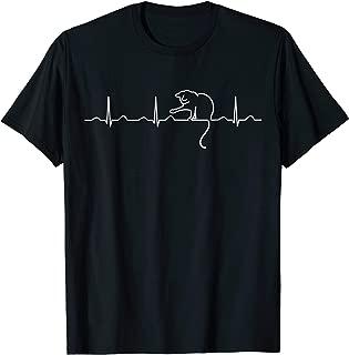 Cute Cat Heartbeat Minimal Tee Shirt