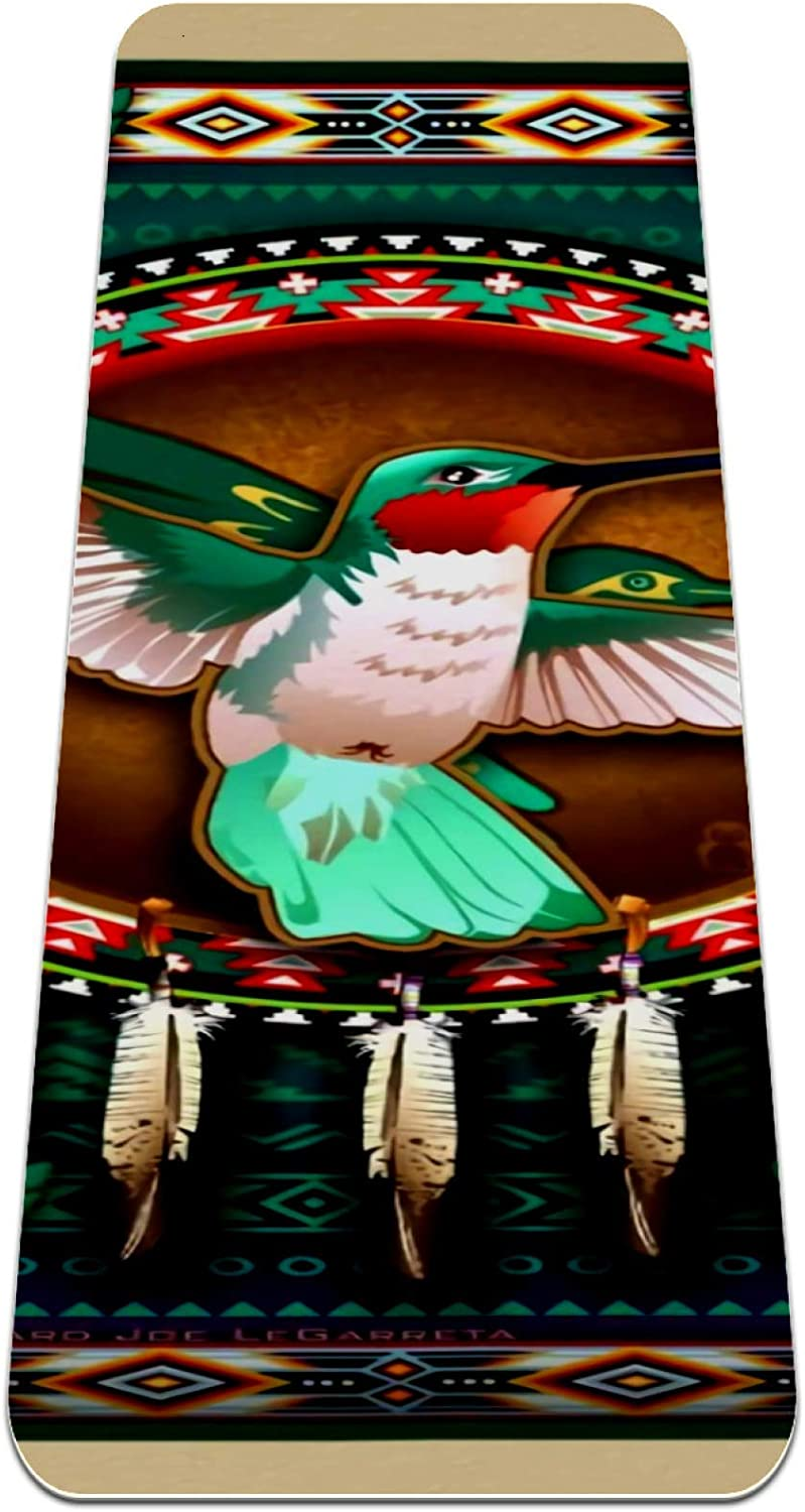 MUOOUM Yoga Mat mart Exercise TPE Outlet ☆ Free Shipping Hummingbird Dreamcatcher and